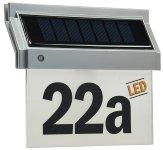 Solar Hausnummernleuchte mit LED