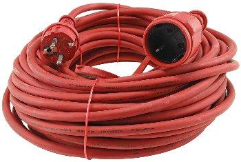 Schutzkontakt-Verlängerung, 25m, rot