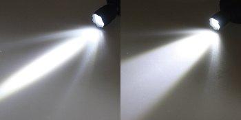 LED-Stirnlampe mit fokussierbarer 1W LED