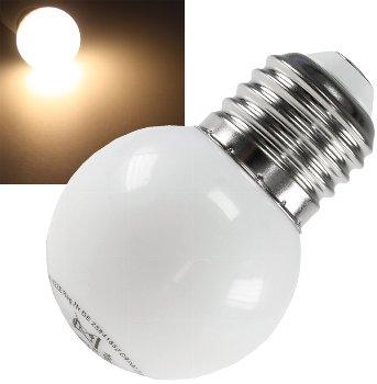 LED Tropfenlampe E27, 40mm Ø, warmweiß