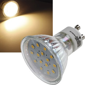 "LED Strahler GU10 ""H10 SMD"" 15 SMD LEDs"