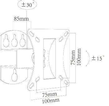 """TV-Wandhalter """"CT-10+"""", VESA kompatibel"""