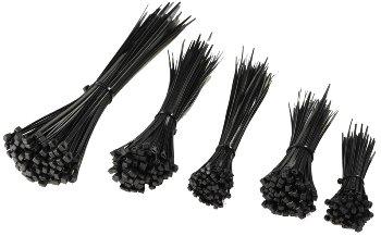 Kabelbinder Set CKB-500 schwarz, UV fest