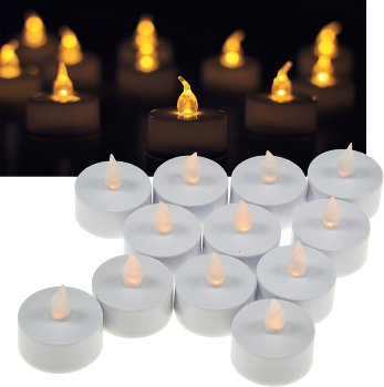 12er Set LED Teelicht / LED-Kerze