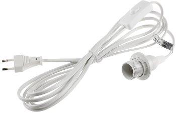Netzkabel mit Schalter und E14 Fassung