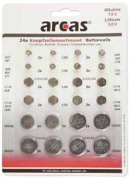 Knopfzellen-Sortiment 24 teilig