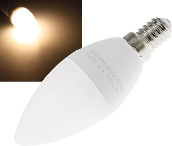 "LED Kerzenlampe E14 ""K50"" warmweiß"
