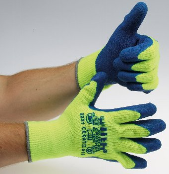 "Arbeitshandschuhe ""Ice-Crusher""gelb/blau"