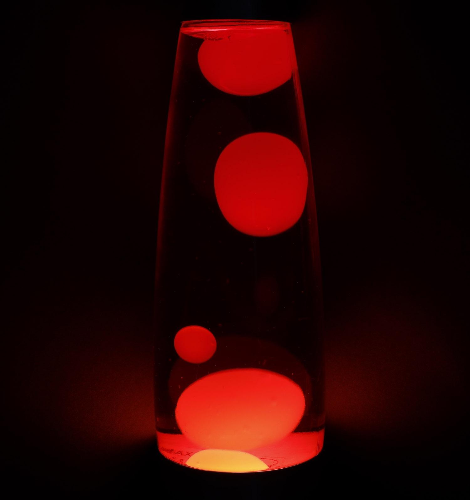 "Leuchtmittel Lavalampe /""CTL-ROGE/"" blau//rot mit Metallfuß 40cm inkl"