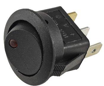 12V Schalter mit roter LED