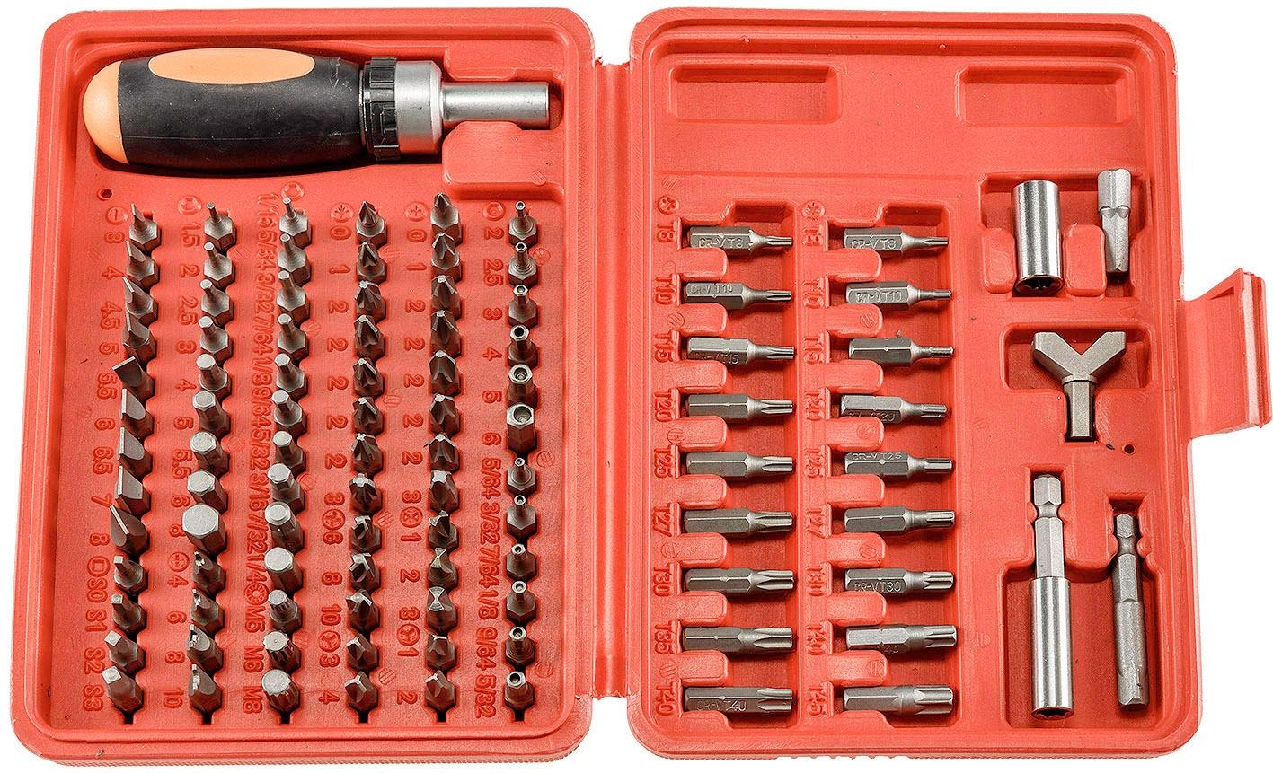 Bitbox Bitsatz Multi Box 101 mit 100 Bits und Ratschen-Schraubendreher CT 21656
