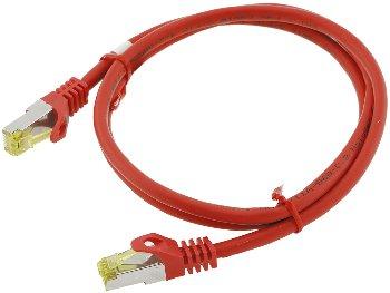 CAT 7 Netzwerk-Rohkabel, 1m, rot