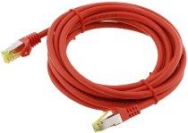 CAT 7 Netzwerk-Rohkabel, 3m, rot