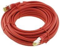 CAT 7 Netzwerk-Rohkabel, 10m, rot