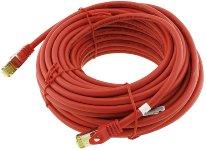 CAT 7 Netzwerk-Rohkabel, 15m, rot