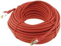 CAT 7 Netzwerk-Rohkabel, 20m, rot