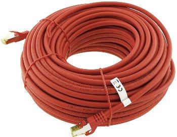 CAT 7 Netzwerk-Rohkabel, 30m, rot