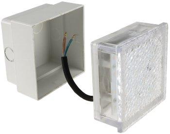 """LED Pflasterstein """"BRIKX 10"""" neutralweiß"""