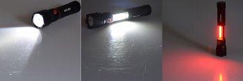 LED-Taschenlampe ARCAS 3-in1, 3W, 350lm