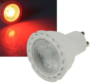 """LED Strahler GU10 """"LDS-50"""" rot"""