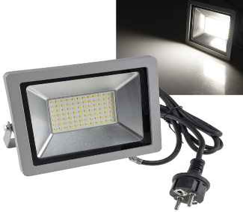 "LED-Fluter SlimLine ""CTF-SLT 50"" silber"