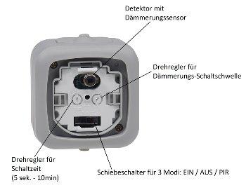 Feuchtraum Bewegungsmelder, IP44