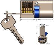 Schließzylinder 60mm (30+30mm)