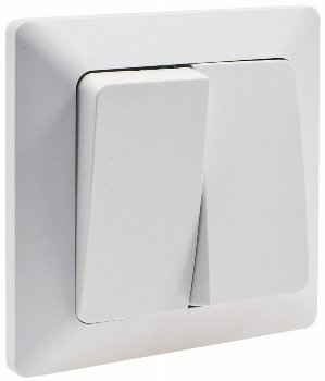 MILOS Serien-Schalter 2-fach weiß matt