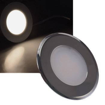"LED-Einbauleuchte ""EBL-HV65si"", silber"