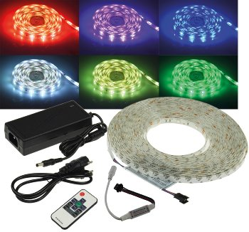 """RGB LED-Strip Set """"RGB-1000 RF"""" 10m"""