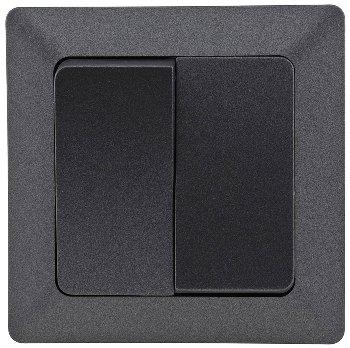 MILOS Serien-Schalter 2-fach, Anthrazit