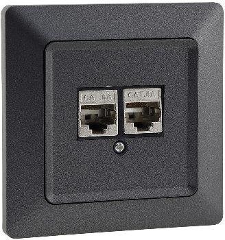 MILOS Netzwerk-Dose 2x CAT6