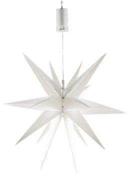 Großer 3D Weihnachtsstern weiß, 56cm