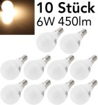 """LED Tropfenlampe E14 """"T50 Promo"""" 10er-Pk"""