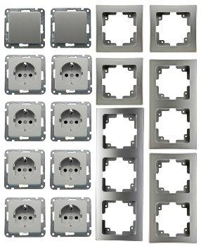 """DELPHI Starter-Kit, 16-tlg """"PRO"""", Silber"""