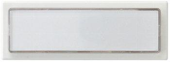 Klingeltaster mit Namensschild, weiß