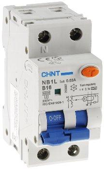 Leistungsschalter/ FI Kombination +N B16