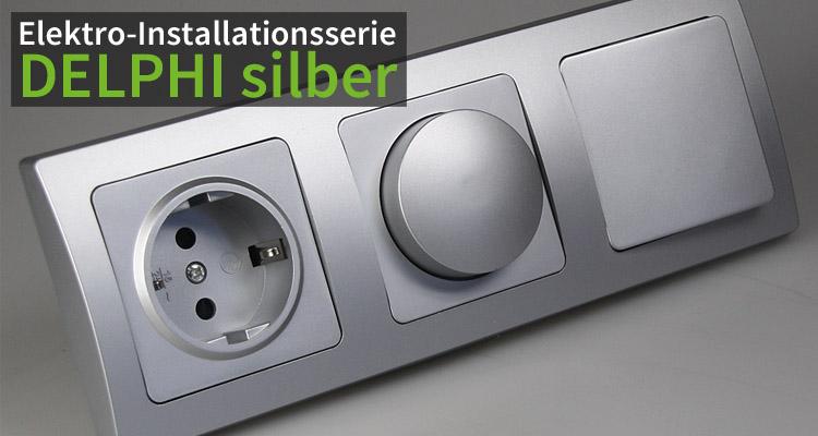 Elekro-Intallationsserie DELPHI silber
