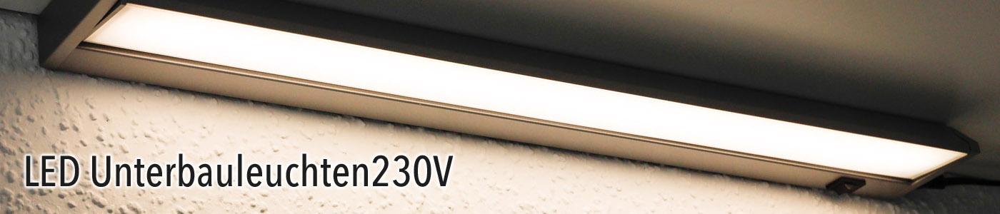 Unterbauleuchten 230V