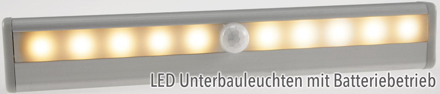 LED Unterbauleuchten mit Batteriebetrieb