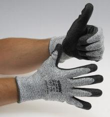 Schnittschutzhandschuhe grau/schwarz