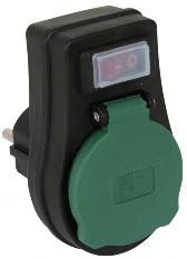 Steckdosen-Schalter, 3680 Watt, IP44