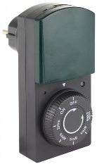 analoge Zeitschaltuhr mit Dämmerungs-