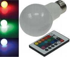 LED Glühlampe E27 RGBW mit Fernbedienung