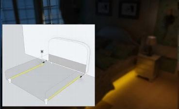 LED Bettenbeleuchtung mit 2 PIR-Sensoren