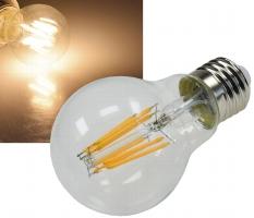 "LED Glühlampe E27 ""Filament G60k"" klar"