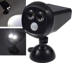 LED Solar Strahler mit Bewegungsmelder