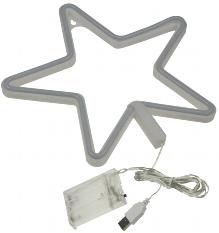 """LED Figur """"Stern"""" 280x280mm, warmweiß"""