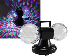 "LED Lichteffekt ""Party Double-Ball RGB"""